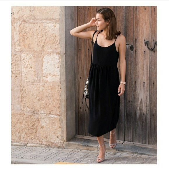 6c346a8c6373 Zara Black Strappy Midi Dress Size Small. M_5aba81a150687cdd5f2bad65